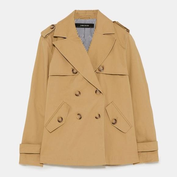 9594e555 Zara Jackets & Coats   Nwt Short Trench Coat   Poshmark